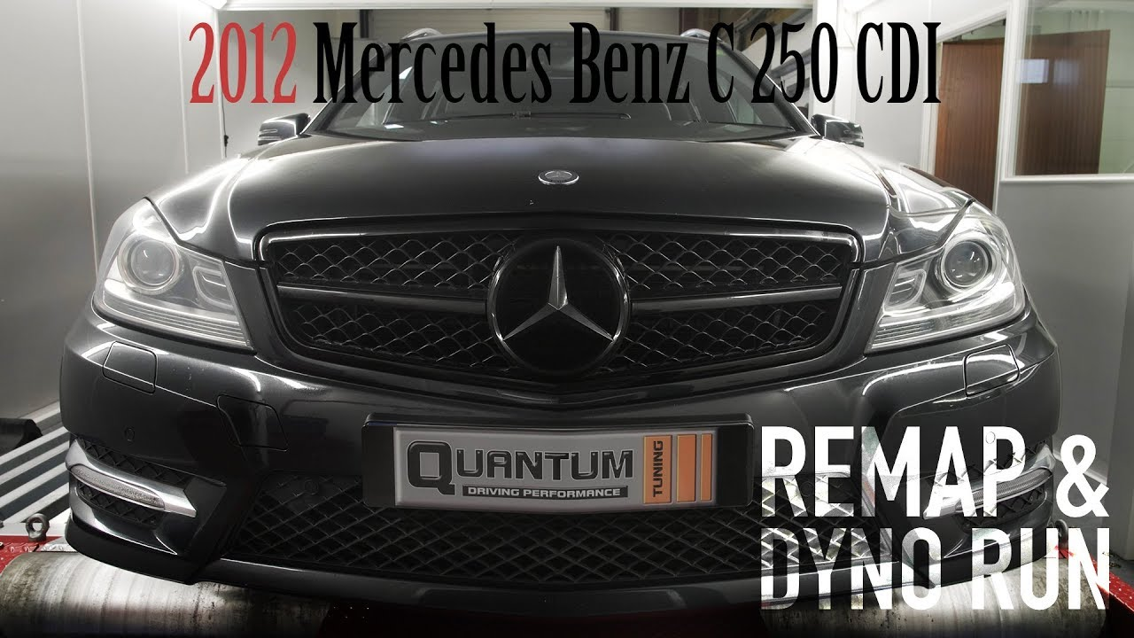 2012 Mercedes Benz C250 AMG Line CDI Remap (Dyno Run)